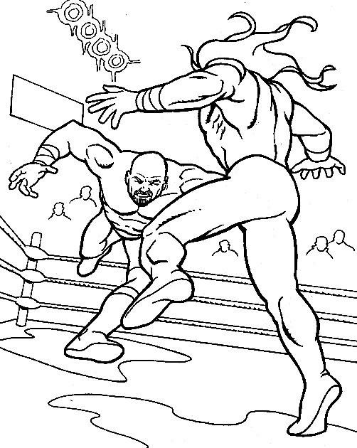 Coloriage wwe - Coloriage wwe ...