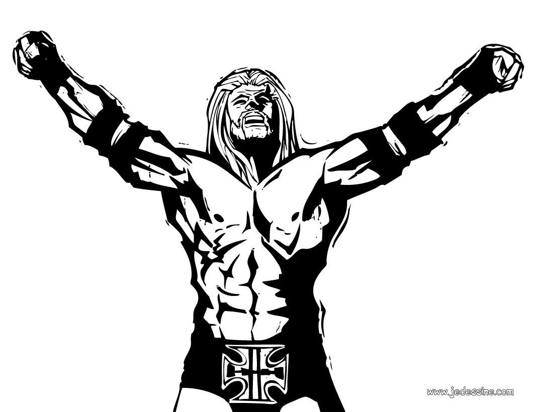 Coloriage wwe page 3 - Coloriage wwe ...